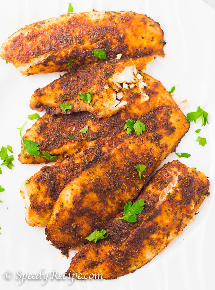 Oven Backed Blackened Tilapia 2