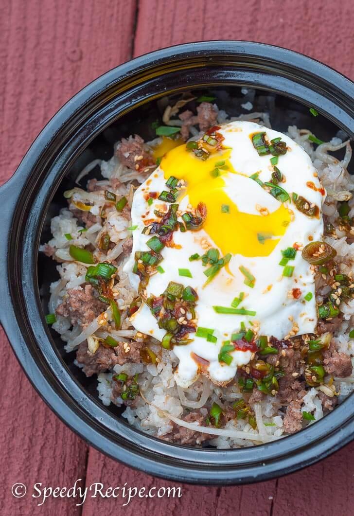 Kongnamul Bap Soybean Sprout Rice Bowl