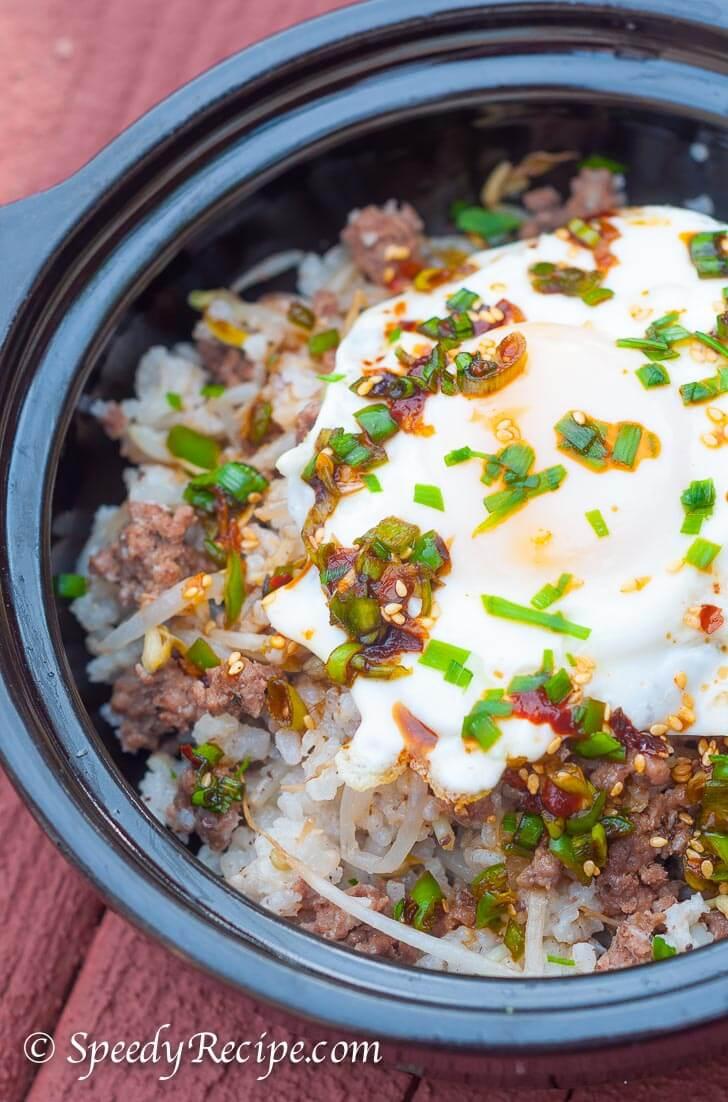 Kongnamul Bap Soybean Sprout Rice_
