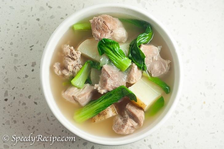 Filipino Pork Nilaga (Boiled Pork Soup in Clear Broth)