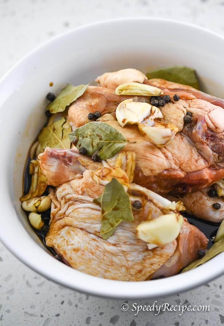 Chicken Adobo in Marinade