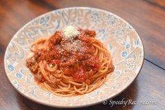 Sausage and Basil Spaghetti Recipe