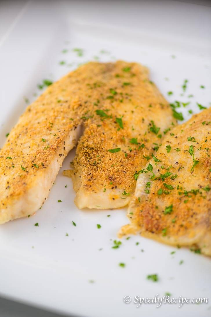 Parmesan Garlic Crusted Tilapia