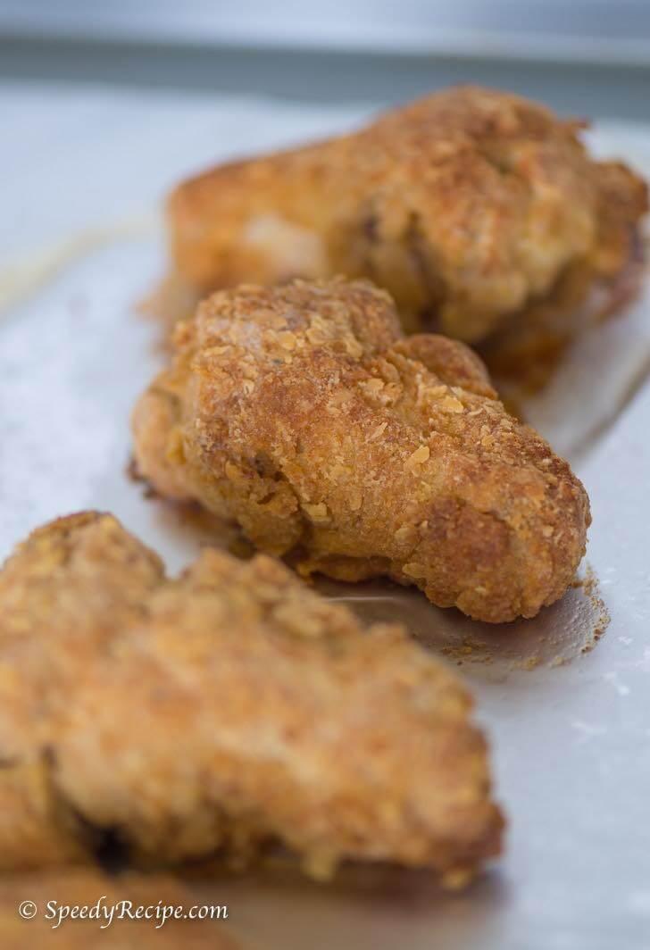Crispy Oven Fried Chicken Wings Recipe