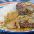 Jollibee Inspired Burger Steak with Mushroom Gravy