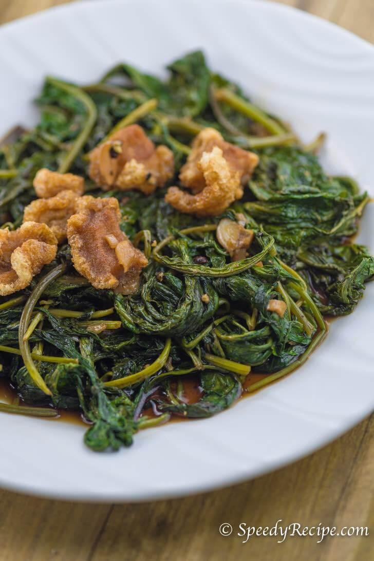 Adobong Kangkong - water spinach adobo