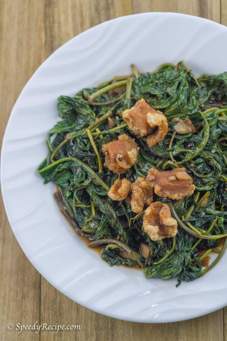 Speedy Adobong Kangkong Recipe - water spinach adobo