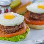 bigger than a slider mini burger with egg lettuce and tomato recipe