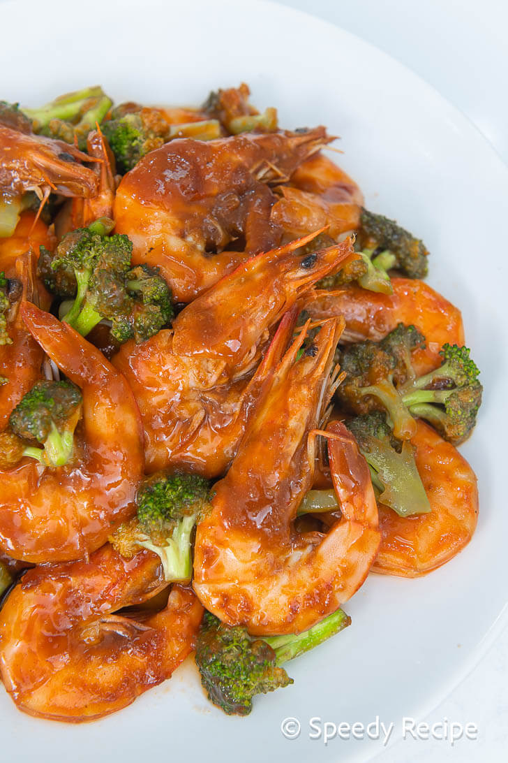 shrimp and broccoli in oyster sauce
